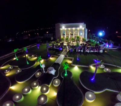 Giardino Oasi con giochi di luci - Baccus Palace