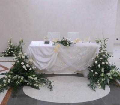Tavolo sposi per matrimonio - Baccus Palace